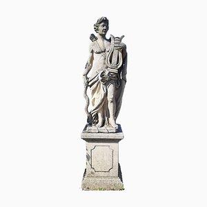 Escultura de jardín italiana de piedra de Apolo, 1960