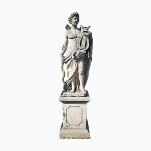 Italian Stone Garden Sculpture of Roman Mythological Subject Apollo, 1960