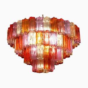 Mid-Century Multi-Colored Murano Glass Tronchi Chandelier