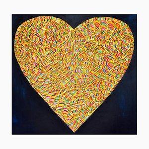 Pintura Love con técnica plástica de Erika Baktay, 2017