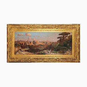 Römische Landschaft mit Kolosseum und Via Sacra, Öl auf Leinwand, 1930