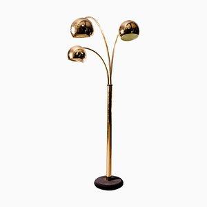 Messing Globe Stehlampe von Goffredo Reggiani, Italien, 1970er