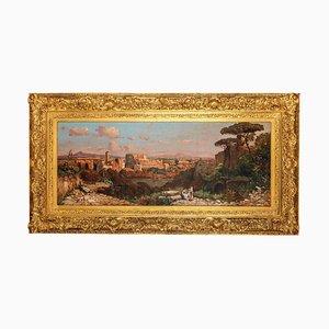 Römische Landschaft mit dem Kolosseum und der Via Sacra