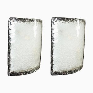 Large Murano Glass Sconces from Vistosi, 1970s, Set of 2