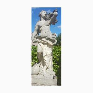 Italian Limestone Garden Sculpture of Aria a Roman Goddess, 1960s