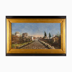 Rome Viaveria Gemälde, Öl auf Leinwand, Ruspini Randolfo
