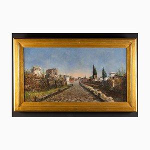 Rome Viaveria Painting, Oil on Canvas, Ruspini Randolfo