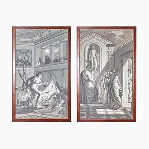 Wall Decoration by Dufour, Paris, France, 19th Century, Set of 2