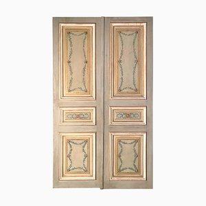 Italienische lackierte Türen, 19. Jh., 2er Set