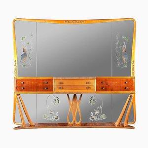 Italian Art Deco Console Table with Mirror by Osvaldo Borsani, 1940s