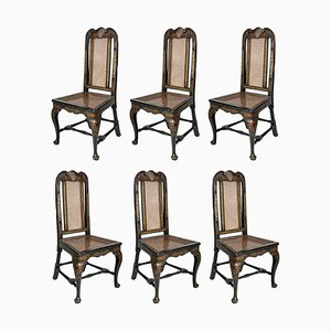 18th Century Dining Chairs, England, 1750s, Set of 6