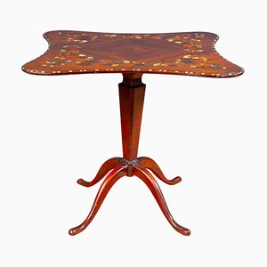 English Regency Marquetry Inlaid Center Table or Occasional Table, 1815