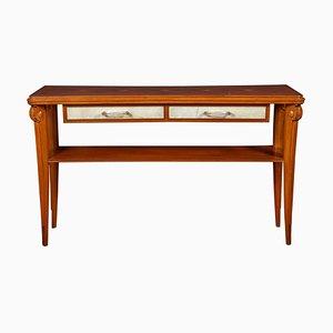 Art Deco Console Table with Pergamino Insert by Osvaldo Borsani, Italy, 1940s