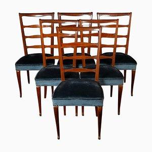 Italienische Esszimmerstühle von Paolo Buffa, 1950er, 6er Set