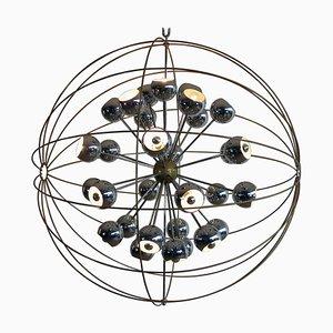 Italienischer Multi Light Sputnik Kronleuchter mit Chrom Leuchten von Reggiani
