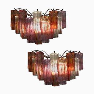 Mid-Century Colored Murano Glass Sconces by Toni Zuccheri for Venini, Set of 2
