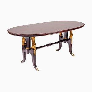 Italian Mahogany Table in the Style of Paolo Buffa, 1950s