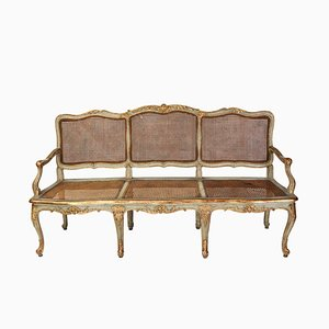 Italian 18th Century Parcel-Gilt and Painted Canape