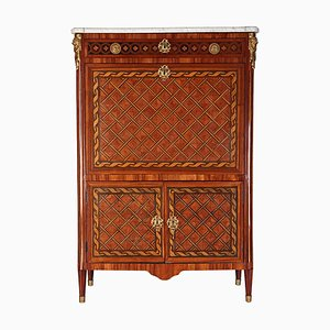 French Ormolu-Mounted Marquetry Secretaire