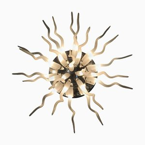 Italian Glass Coral Ceiling Lamp