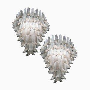 Große Kronleuchter aus Murano Glas, 2er Set