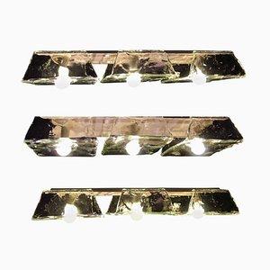 Murano Hängelampen von Nason für Mazzega, 1970er, 2er Set