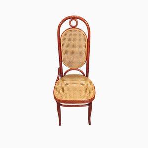 Sedia numero 17 in legno curvato intrecciato di Thonet, Austria, 1890