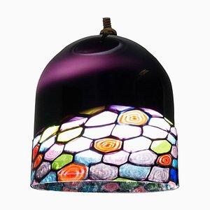 Italian Glass Dome Pendant by Leucos, 1960s