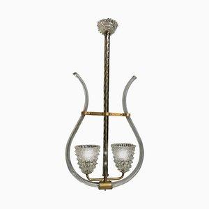 Murano Pendant Lamp by Barovier & Toso, 1940s