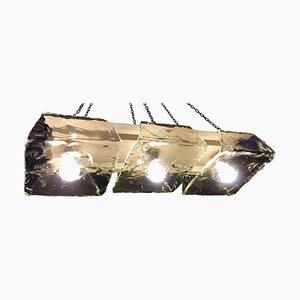 Lampada a sospensione in vetro di Murano di Nason per Mazzega, anni '70