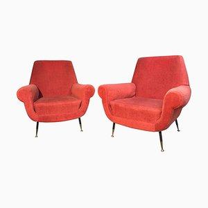 Lounge Set mit Geschwungenem Sofa von Gigi Radice für Minotti, 3er Set