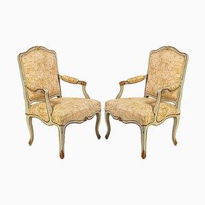 18th Century Italian Painted Armchairs, Set of 2