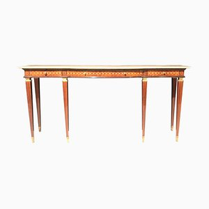 Mid-Century Italian Modern Bronze-Mounted Console Table by Paolo Buffa