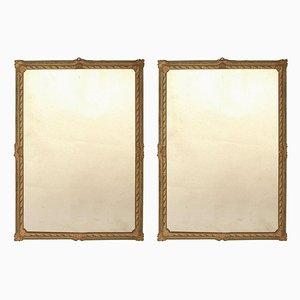 Lackierte italienische Spiegel, 18. Jh., 2er Set