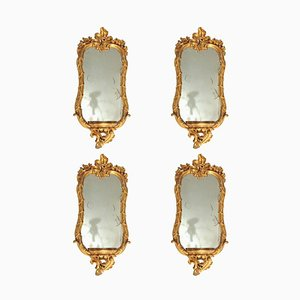 Römische Spiegel mit vergoldetem Holzrahmen, 18. Jh., 4er Set