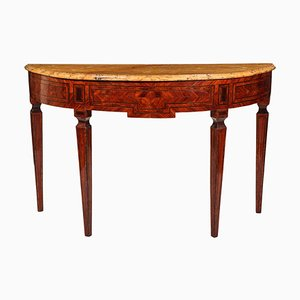 18th Century Italian Marquetry Console Table