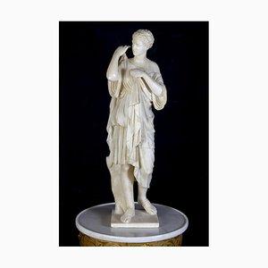 Neoclassical Alabaster Marble Sculpture of Vestal, 1870