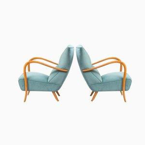 Blaue Italienische Vintage Sessel, 2er Set