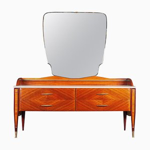 Mid-Century Italian Dresser or Chest of Drawer with Carrara Marble Top, 1970