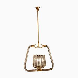 Lanterne Art Déco en Herbe de Murano, 1940