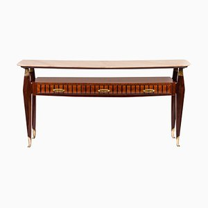 Mid-Century Italian Console Table in the Style of Paolo Buffa, 1950s