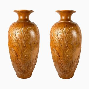 Liberty Monumental Terracotta Vases, 1920, Set of 2