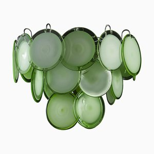 Grüne Murano Glas Kronleuchter, 1970er