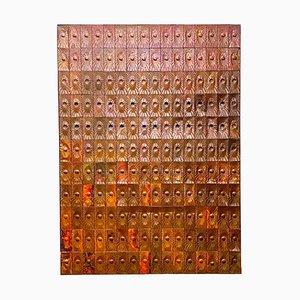 Kupfer Wandverkleidung von Edit Oborzil, 1971