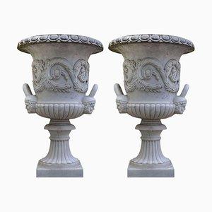 Vaso in marmo bianco