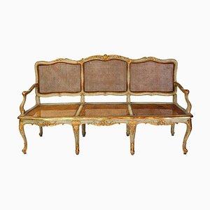 Italian Parcel-Gilt and Painted Sofa, 18th Century