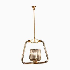Lanterne Art Déco en Verre de Murano Attribuée à Gio Ponti pour Venini, 1940s