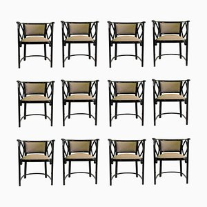 Armchairs by Josef Hoffmann for Thonet, Austria, Set of 12