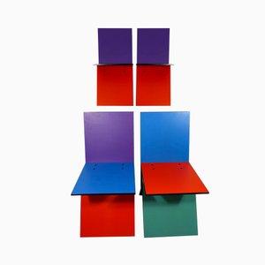 Vintage Vilbert Chairs by Verner Panton for Ikea, 1993, Set of 4