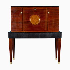 Mid-Century Trumeau Bar Cabinet Attributed to Paolo Buffa, 1950s